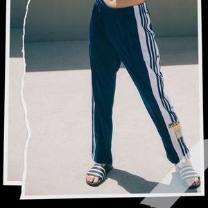 Adidas Navy Snap Up Three Stripe Track Pants